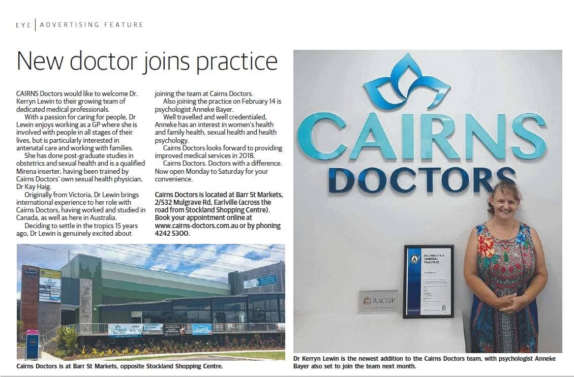 New Doctor Joins Cairns Doctors