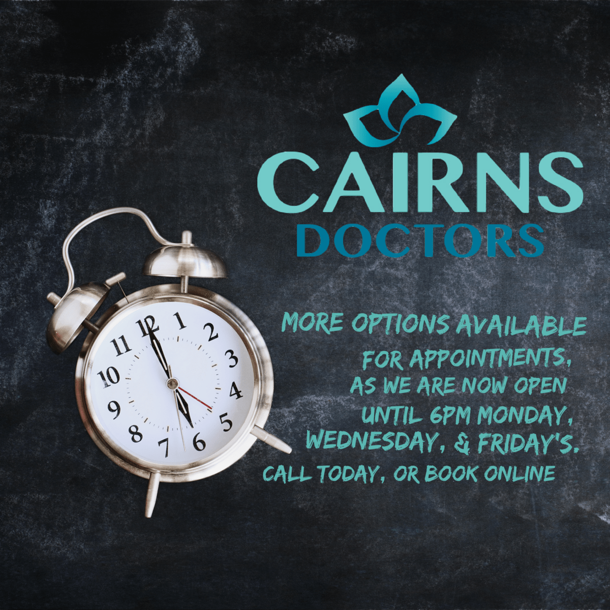 Change in hours – Cairns Doctors